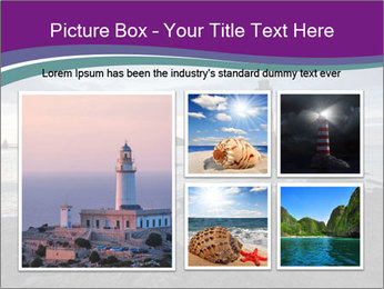 Seashore And Lighthouse PowerPoint Templates - Slide 19