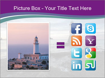 Seashore And Lighthouse PowerPoint Template - Slide 21