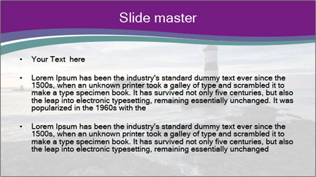 Seashore And Lighthouse PowerPoint Template - Slide 2