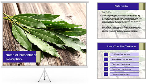 Aromatic Herb PowerPoint Template
