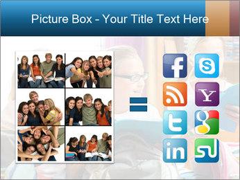 Three Schoolgirls PowerPoint Templates - Slide 21
