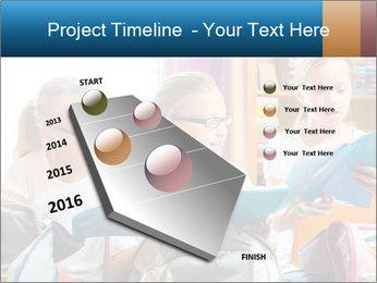 Three Schoolgirls PowerPoint Templates - Slide 26
