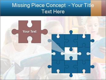 Three Schoolgirls PowerPoint Templates - Slide 45