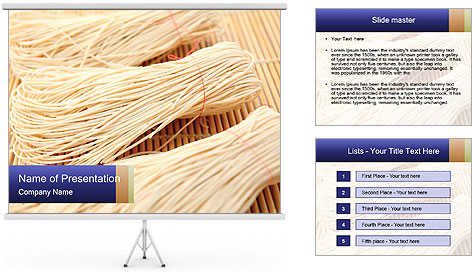 Chinese Noodles PowerPoint Template