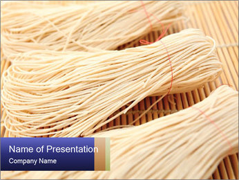 Chinese Noodles PowerPoint Template - Slide 1