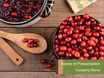 Cook With Berries PowerPoint Template