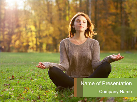 Meditation In Forest PowerPoint Templates