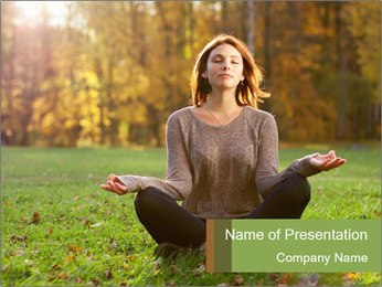 Meditation In Forest PowerPoint Template - Slide 1