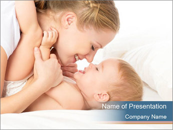 Mother's Tenderness PowerPoint Template - Slide 1