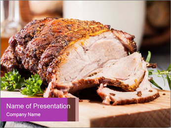 Meat Delicacy PowerPoint Template - Slide 1