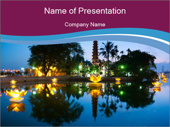Myanmar At Night PowerPoint Template - Slide 1