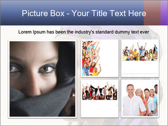 African Woman In Lilac Headgear PowerPoint Template - Slide 19