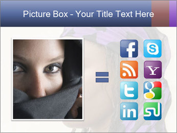 African Woman In Lilac Headgear PowerPoint Template - Slide 21