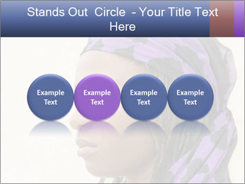 African Woman In Lilac Headgear PowerPoint Template - Slide 76