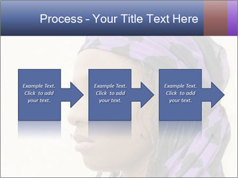 African Woman In Lilac Headgear PowerPoint Template - Slide 88