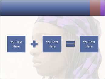 African Woman In Lilac Headgear PowerPoint Template - Slide 95