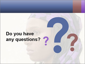 African Woman In Lilac Headgear PowerPoint Templates - Slide 96