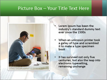 Man Testing New Tablet PowerPoint Templates - Slide 13