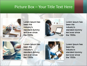 Man Testing New Tablet PowerPoint Templates - Slide 14