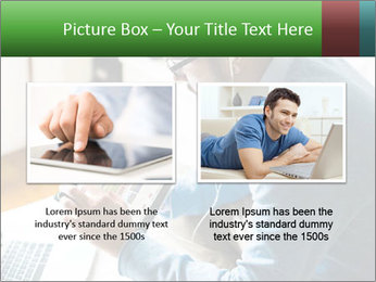 Man Testing New Tablet PowerPoint Template - Slide 18