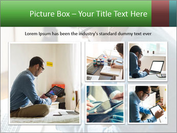 Man Testing New Tablet PowerPoint Template - Slide 19