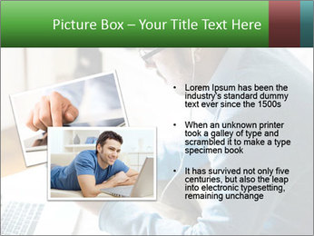 Man Testing New Tablet PowerPoint Templates - Slide 20