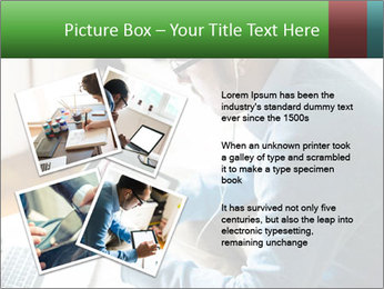 Man Testing New Tablet PowerPoint Templates - Slide 23
