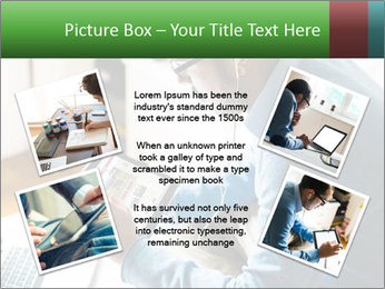 Man Testing New Tablet PowerPoint Templates - Slide 24