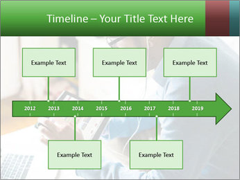 Man Testing New Tablet PowerPoint Templates - Slide 28