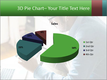 Man Testing New Tablet PowerPoint Template - Slide 35