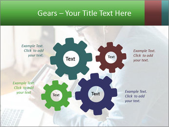 Man Testing New Tablet PowerPoint Template - Slide 47
