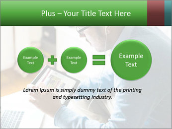 Man Testing New Tablet PowerPoint Templates - Slide 75