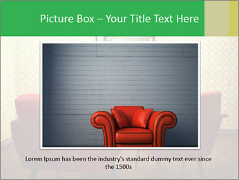 Retro TV And Two Red Armchairs PowerPoint Templates - Slide 15