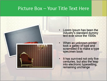 Retro TV And Two Red Armchairs PowerPoint Templates - Slide 20