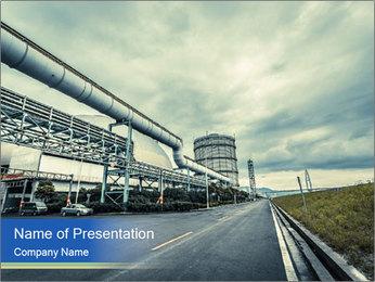 Industrial Pipe Lines PowerPoint Template - Slide 1