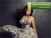 Fluttering Woman PowerPoint Templates