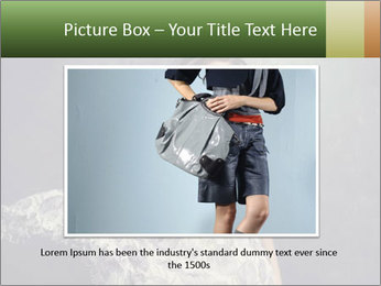 Fluttering Woman PowerPoint Template - Slide 15