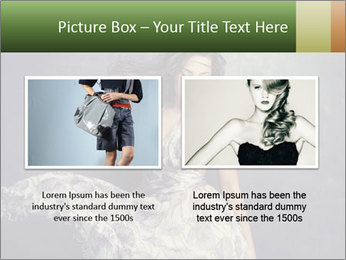 Fluttering Woman PowerPoint Template - Slide 18