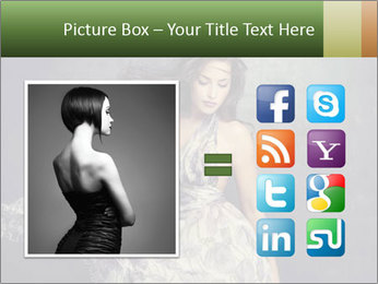 Fluttering Woman PowerPoint Template - Slide 21