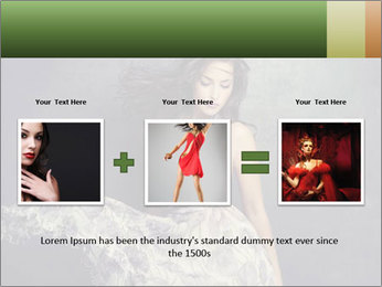 Fluttering Woman PowerPoint Template - Slide 22