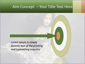 Fluttering Woman PowerPoint Template - Slide 83