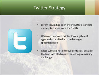 Fluttering Woman PowerPoint Template - Slide 9