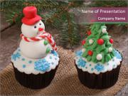 Christmas Cupcake PowerPoint Templates