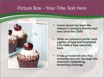 Christmas Cupcake PowerPoint Templates - Slide 13