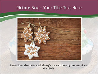 Christmas Cupcake PowerPoint Templates - Slide 16