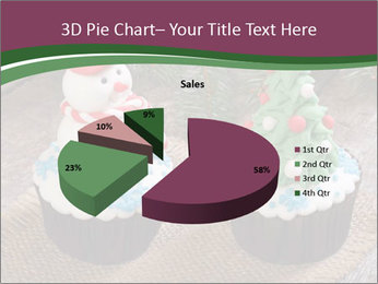 Christmas Cupcake PowerPoint Templates - Slide 35
