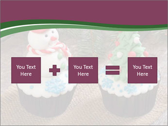 Christmas Cupcake PowerPoint Templates - Slide 95