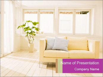 Contemporary Interior Design PowerPoint Template - Slide 1