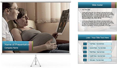 Pregnant Woman Watch Baby Ultra Scanning Result PowerPoint Template