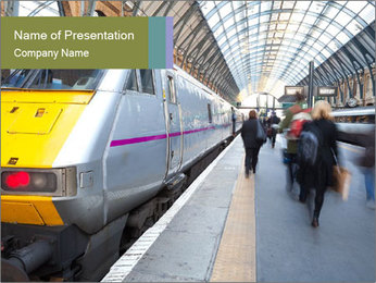 Urban Railway Station PowerPoint Template - Slide 1